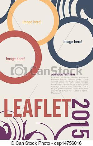 Vector Clip Art of Leaflet design.