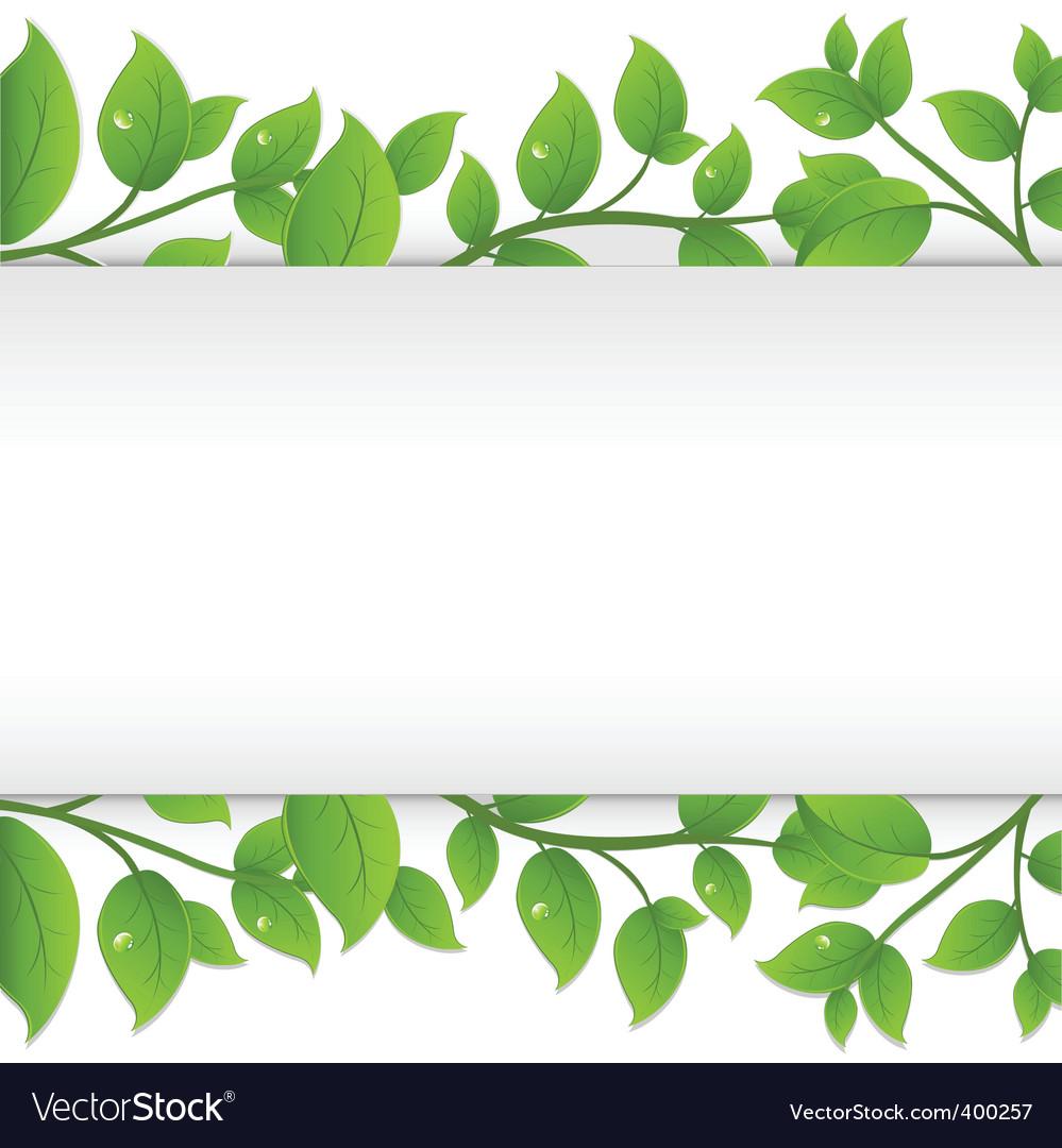 Leafy border.