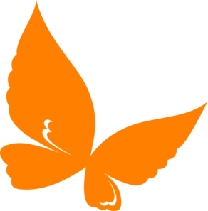 Orange butterfly clipart #4