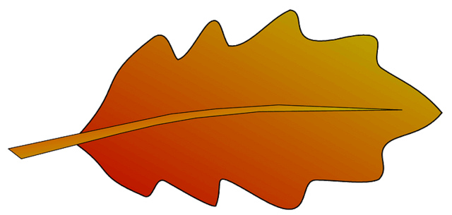 Oak tree leaf clipart.