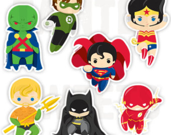 Justice League Superhero Clip Art.