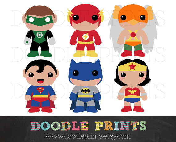 Super Hero Clipart Design.