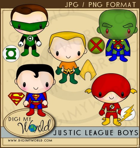 Justice league clipart.