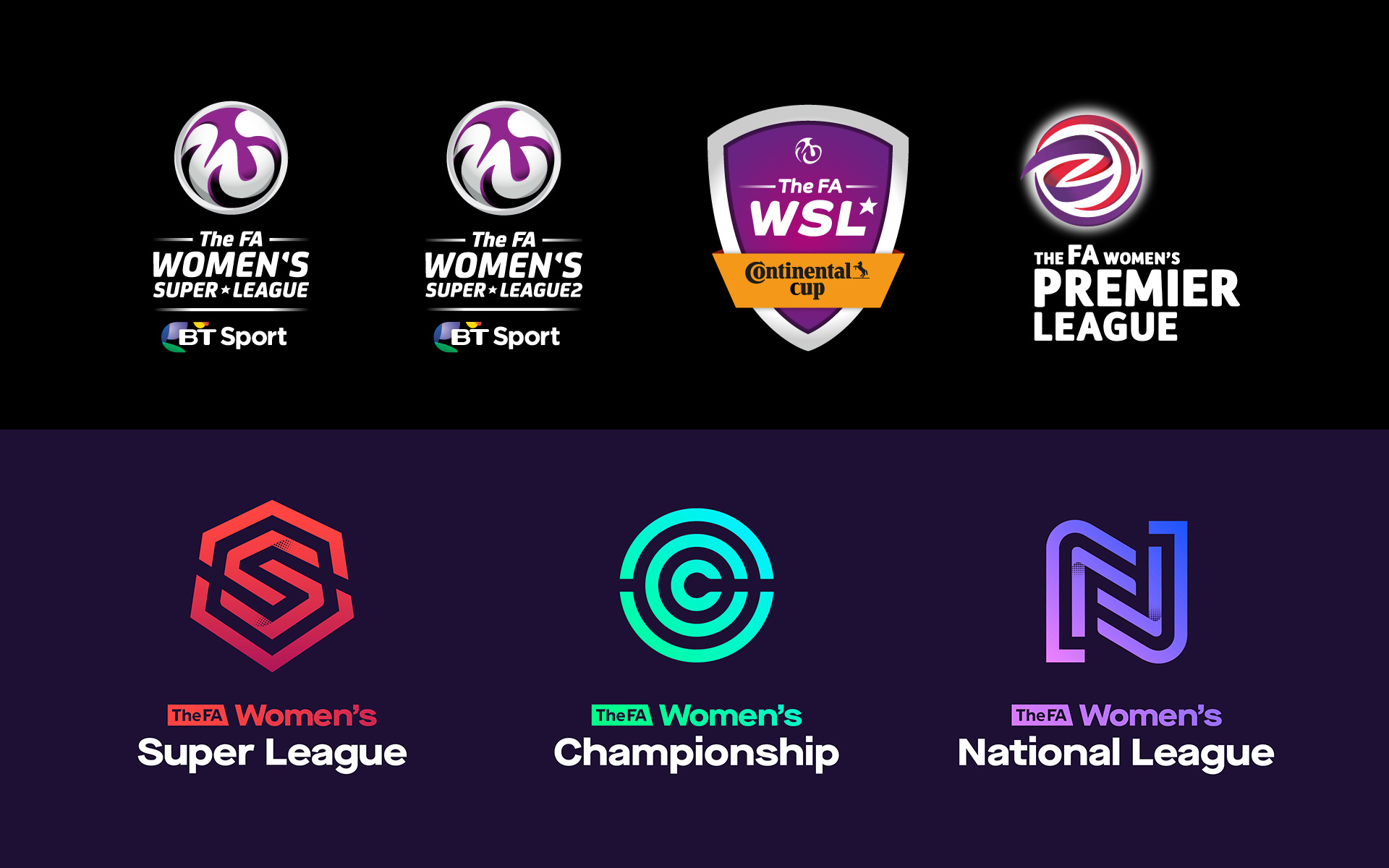 Brand New: New Logos and Identity for FA Women\'s Leagues by.