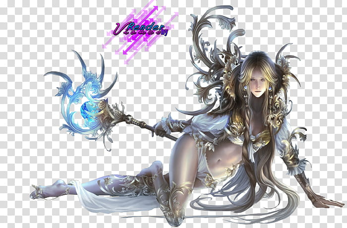 League Of Angels, female wizard transparent background PNG.