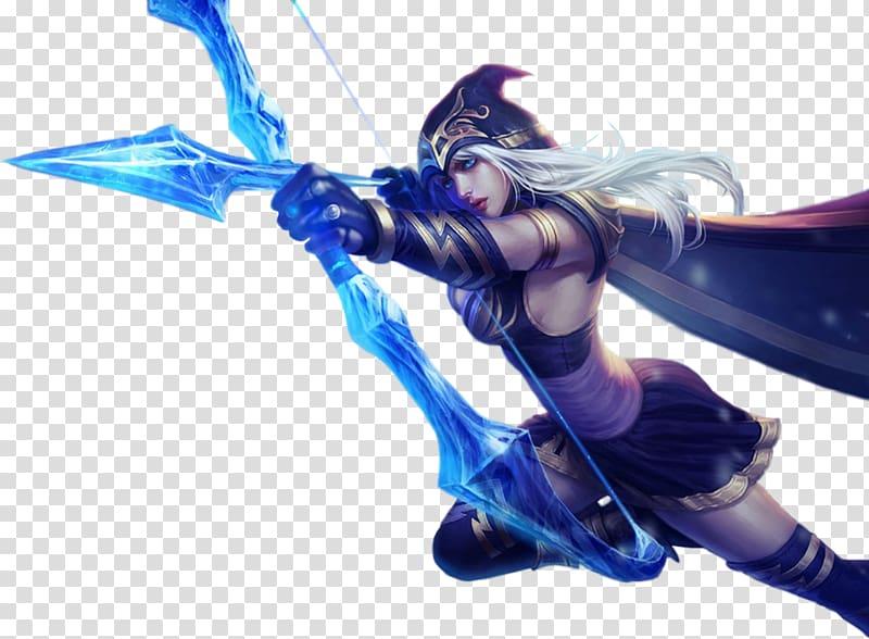 Ashe LOL illustration, League of Legends Champions Korea.