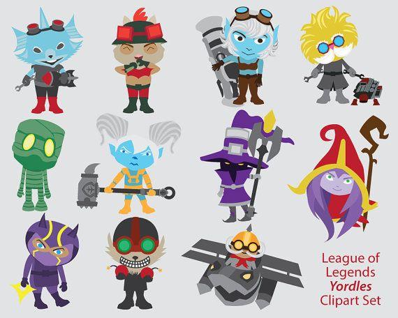 League of Legends Clipart, Yordles, poppy, lulu, corki.