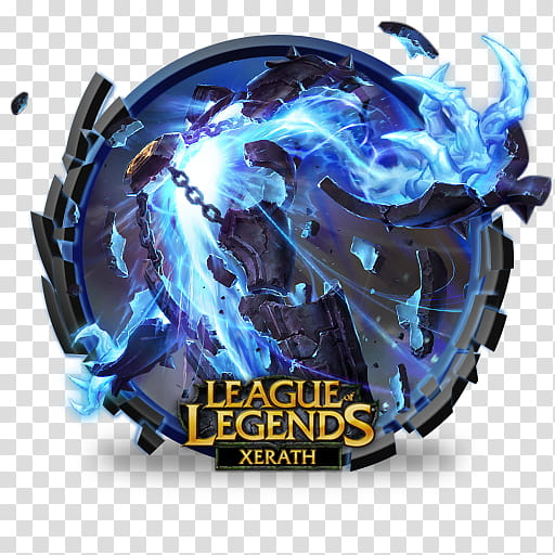 LoL icons, League of Legends Xerath illustration transparent.