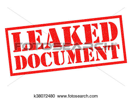 Stock Illustrations of LEAKED DOCUMENT k38072480.