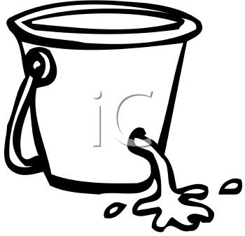 Leaking Bucket Clipart.