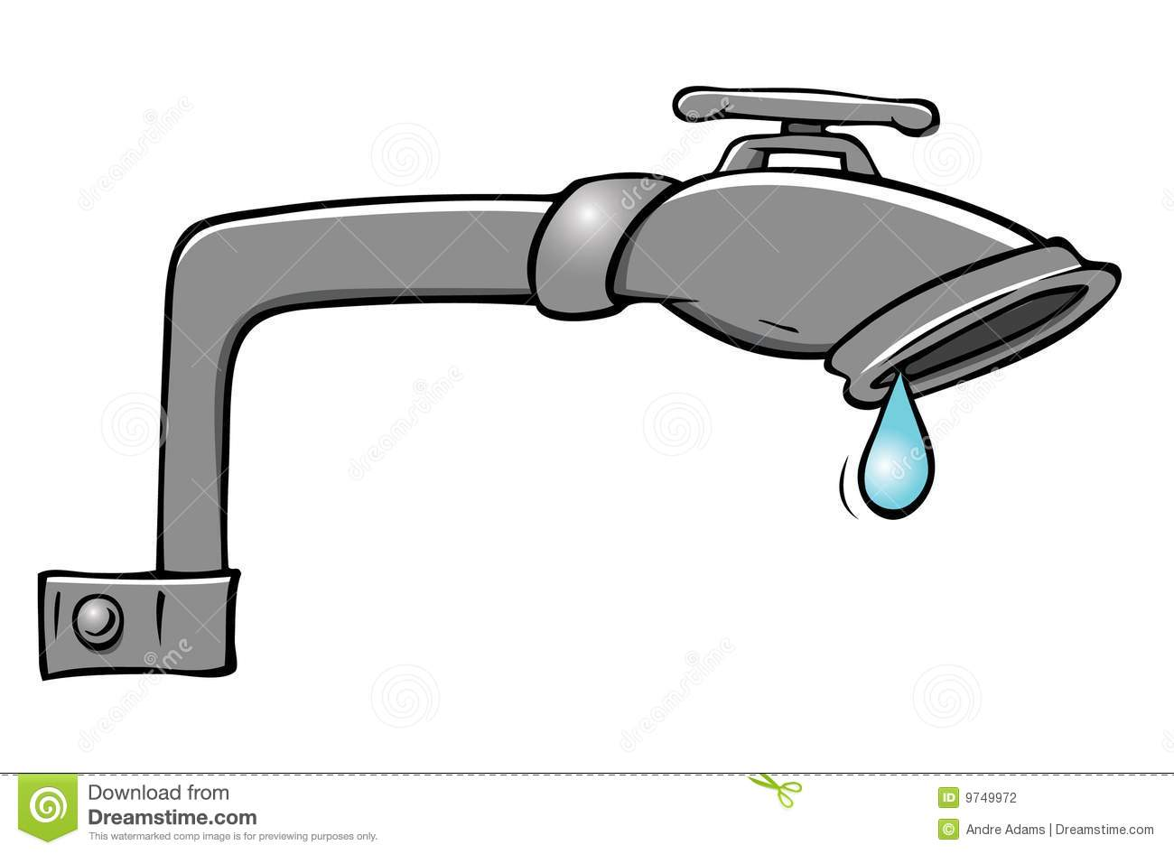 Leaky faucet clipart.