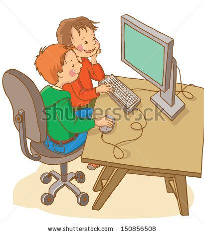Kids Computer Stock Vectors, Images & Vector Art.