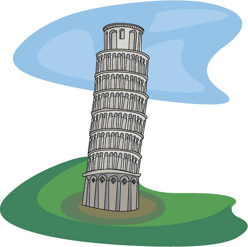 Leaning Building Clipart.