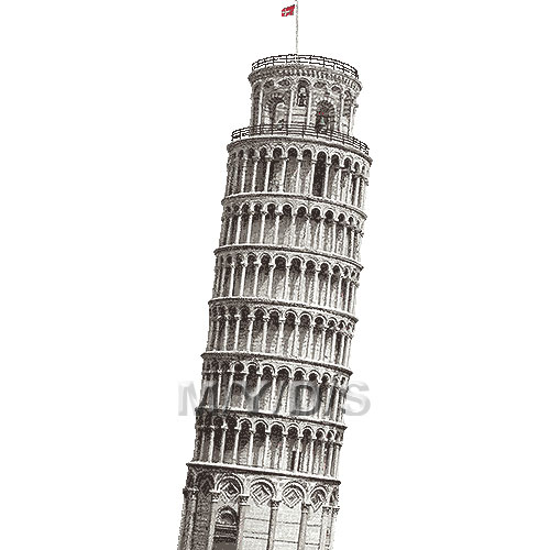 Leaning Tower of Pisa clipart / Free clip art.