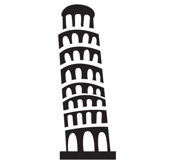 Clipart Of Leaning Tower Of Pisa.