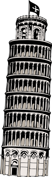 Leaning Tower Of Pisa Clip Art at Clker.com.