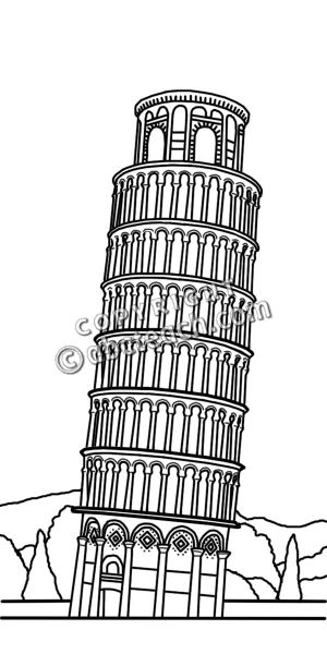 Leaning Tower Of Pisa Clipart Clip Art