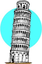 Leaning tower of pisa clipart.