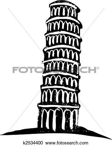 Leaning tower of pisa clipart #1