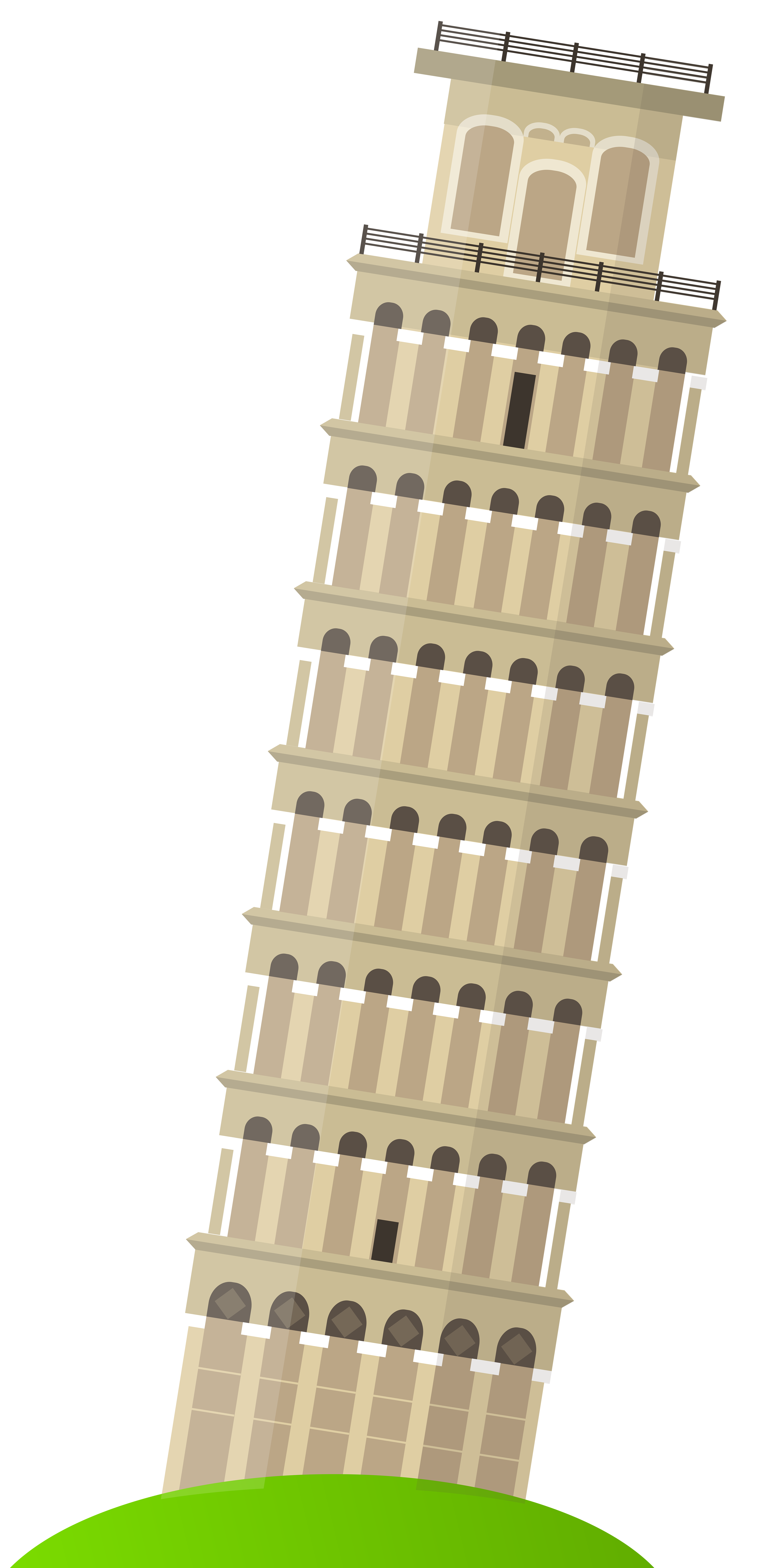 Leaning Tower of Pisa PNG Clip Art.