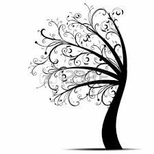 Leaning Tree Graphic.