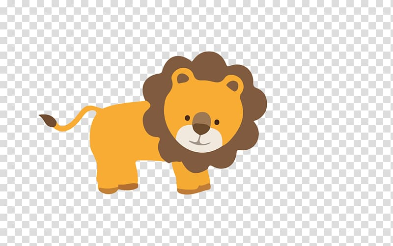 Baby Jungle Animals , leao transparent background PNG.