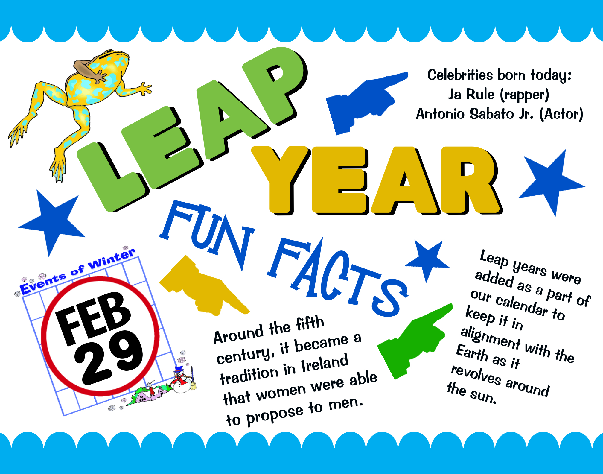 Leap Year Clipart.