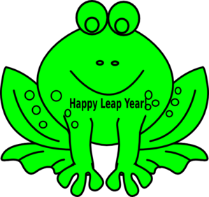 Leap Year Day Frog Clipart.