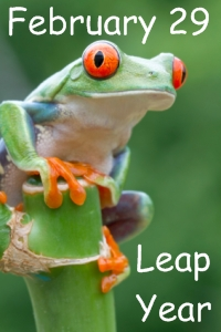 Leap year frog clipart.