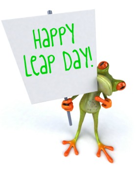 Leap Year Birthday Clipart.