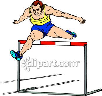 Jumping Hurdles Clipart.