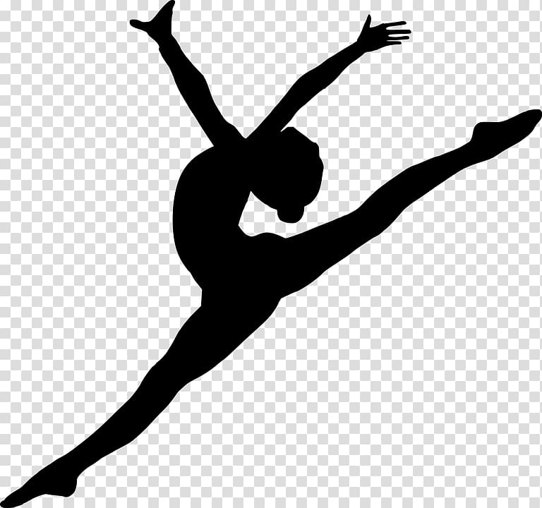 Ballet Dancer Silhouette, Silhouette transparent background.