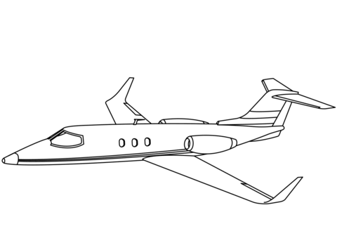 Learjet 60 coloring page.