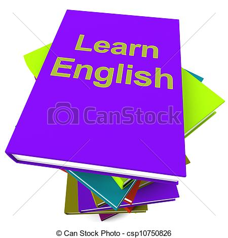 Clip Art of Learn English Book For Studying A Language.