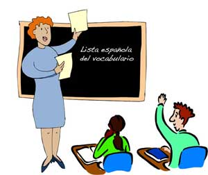 Student Learning Spanish Clipart.