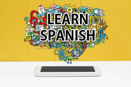 1,198 Learn Spanish Stock Vector Illustration And Royalty Free.