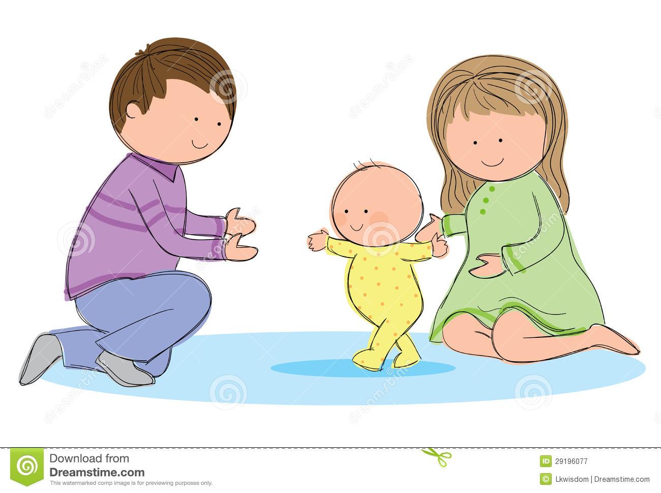 Baby Walk Clipart.