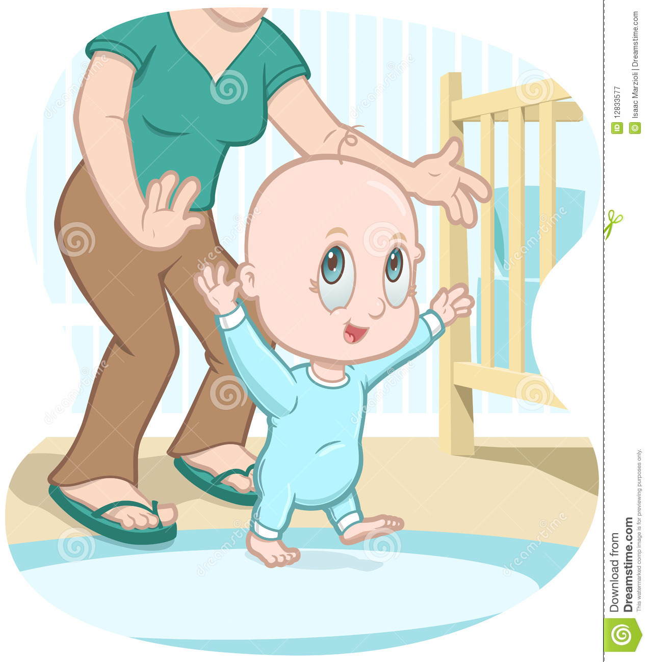Baby Walking Clipart.