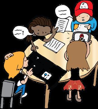 Conversation clipart learner.