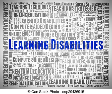 Clipart of Learning Disabilities Words Means Special Education And.