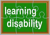 Clip Art of learning disability k21801288.