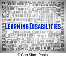 Learning disabilities words Illustrations and Clipart. 714.