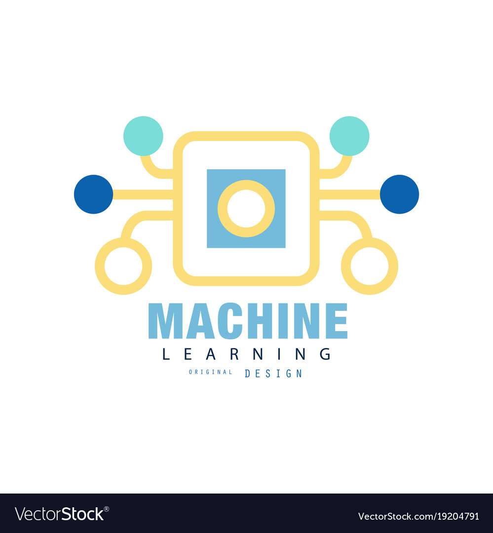 Original machine learning logo artificial.