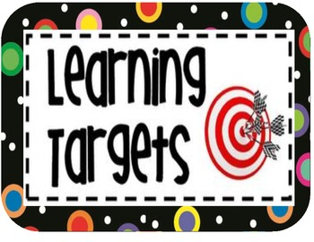 A free set of learning target signs to use in your classroom that.