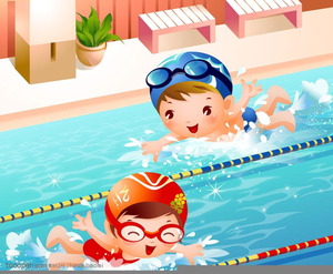 Learn To Swim Clipart.