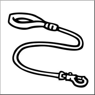 Clip Art: Leash B&W.