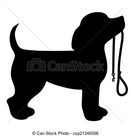 Clipart Vector of Beagle Leash.