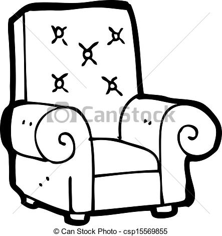 Clipart Vector of cartoon leather chair csp15569855.