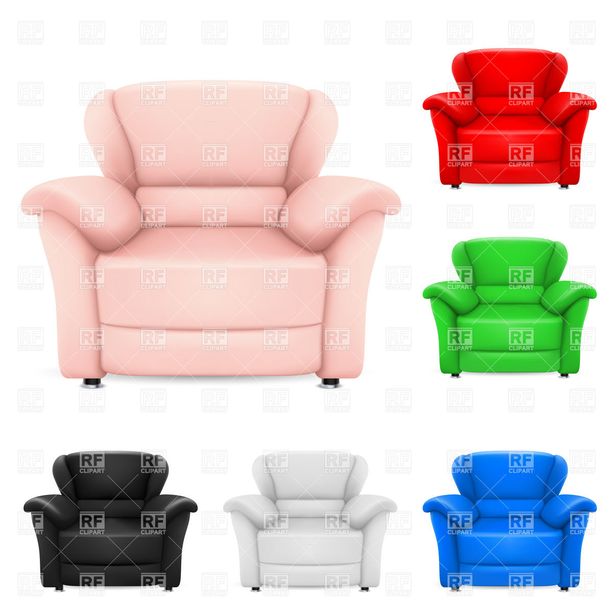 Comfortable leather armchair Vector Image #7757.
