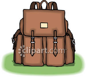Leather Purse with Lots of Pockets Royalty Free Clipart Picture.
